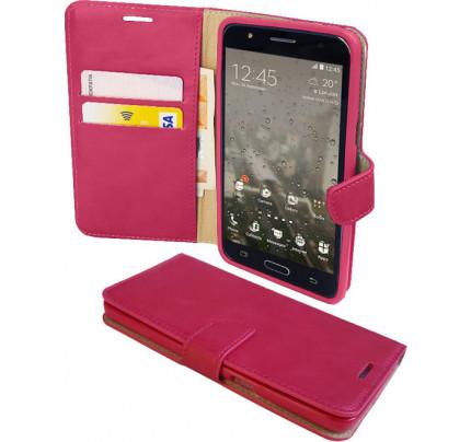 Θήκη OEM Sonata Book για ZTE Blade S6 ( stand ,θήκες για κάρτες,χρήματα) ροζ χρώματος