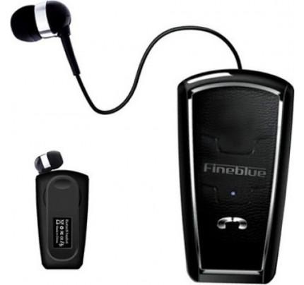Fineblue Bluetooth Headset FQ-6 Multipoint, Πέτου με πτυσσόμενο καλώδιο