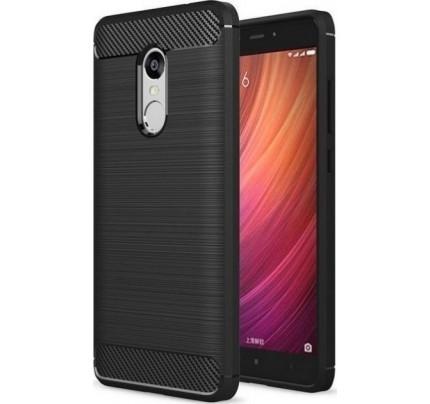 Θήκη OEM Brushed Carbon Flexible Cover TPU for Xiaomi Redmi Note 4X μαύρου χρώματος