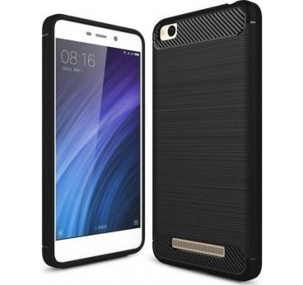 Θήκη OEM Brushed Carbon Flexible Cover TPU για Xiaomi Redmi 4A μαύρου χρώματος