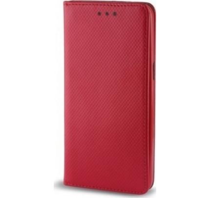 Θήκη OEM Smart Magnet για Huawei P Smart κόκκινου χρώματος (stand ,θήκη για κάρτα )