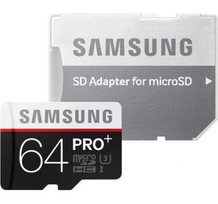 Samsung Pro Plus microSDXC 64GB UHS-I U3, Class 10 MB-MD64DA / EU