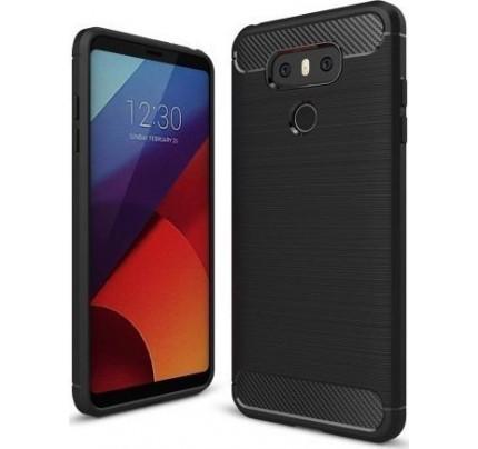 Θήκη OEM Brushed Carbon Flexible Cover TPU για LG G6 μαύρου χρώματος