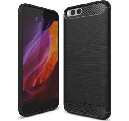 Θήκη OEM Brushed Carbon Case Flexible Cover TPU Case for Xiaomi Mi6 μαύρου χρώματος