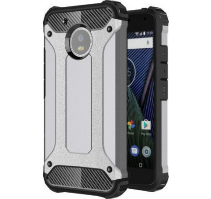 Θήκη OEM Hybrid Armor Tough Rugged Cover for Lenovo Moto G5 silver