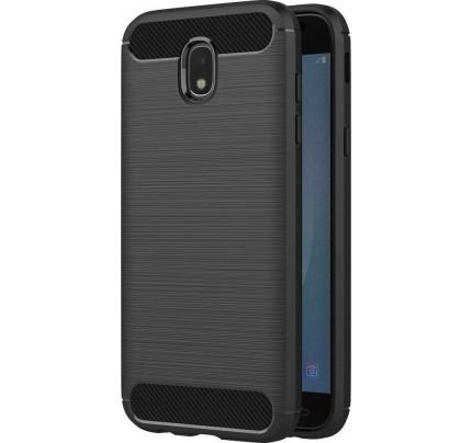 Θήκη OEM Brushed Carbon Flexible Cover TPU for Samsung Galaxy J3 2017 J330 μαύρου χρώματος