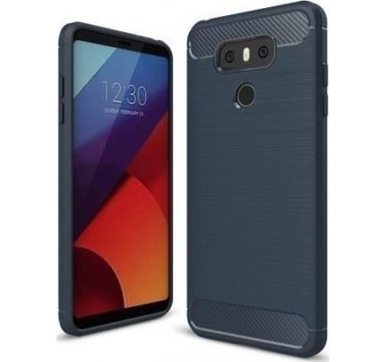 Θήκη OEM Brushed Carbon Flexible Cover TPU για LG G6 μπλε χρώματος