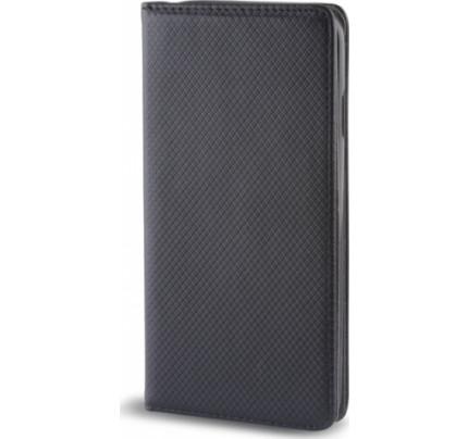 Θήκη OEM Smart Magnet για Huawei Y6 2017 μαύρου χρώματος (stand ,θήκη για κάρτα )