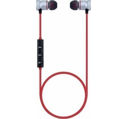 Phonix Move It Bluetooth Headset Magnetic Silver / Red