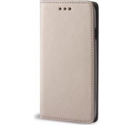 Θήκη OEM Smart Magnet για Huawei Y6 2017 χρυσού χρώματος (stand ,θήκη για κάρτα )