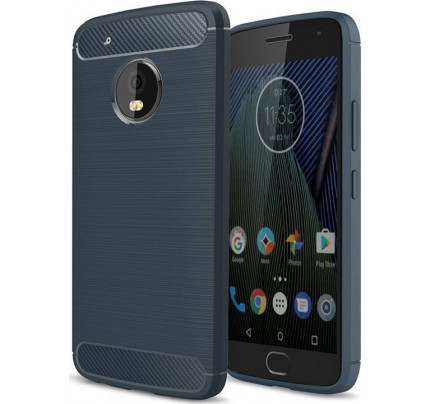 Θήκη OEM Brushed Carbon Flexible Cover TPU for Lenovo Moto G5 Plus χρώματος