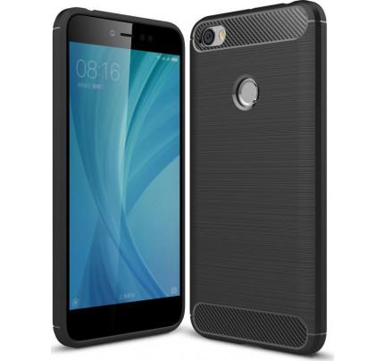 Θήκη OEM Brushed Carbon Flexible Cover TPU για Xiaomi Redmi Note 5A Prime μαύρου χρώματος