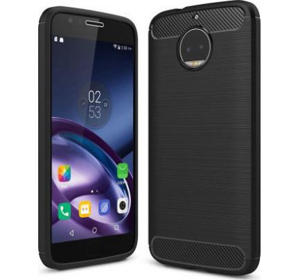 Θήκη OEM Brushed Carbon Flexible Cover TPU για Motorola Moto G5S μαύρου χρώματος