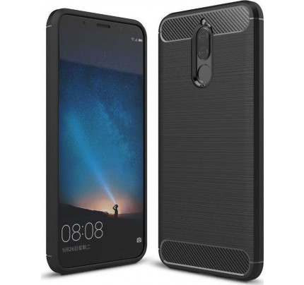 Θήκη OEM Brushed Carbon Flexible Cover TPU for Huawei Mate 10 Lite μαύρου χρώματος