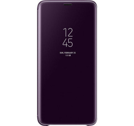 Samsung Original EF-ZG965CVEGWW Clear View Cover Samsung Galaxy S9 Plus G965F Violet