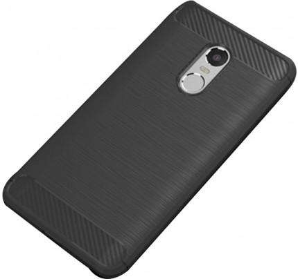 Θήκη OEM Brushed Carbon Flexible Cover TPU για Xiaomi Redmi 5 Plus μαύρου χρώματος