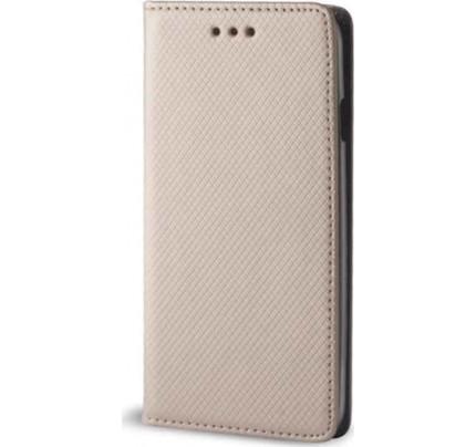 Θήκη Smart Magnet για Samsung Galaxy A3 2017 A320 χρυσού χρώματος