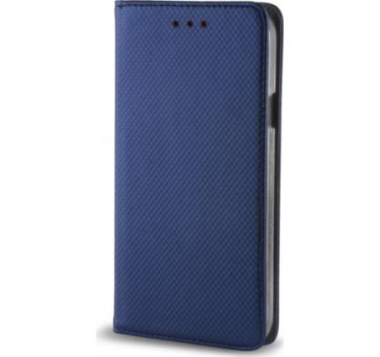 Θήκη OEM Smart Magnet για Huawei Y7 2018 / Y7 Prime μπλε χρώματος ( θήκη για κάρτα , stand )