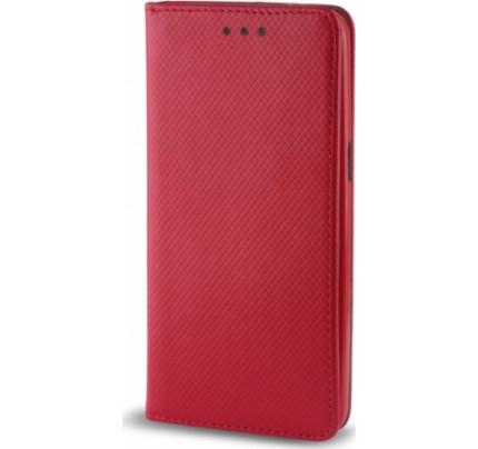 Θήκη OEM Smart Magnet για Huawei Y7 2018 / Y7 Prime κόκκινου χρώματος ( θήκη για κάρτα , stand )