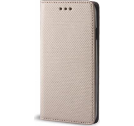 Θήκη OEM Smart Magnet για Huawei Y7 2018 / Y7 Prime χρυσού χρώματος ( θήκη για κάρτα , stand )