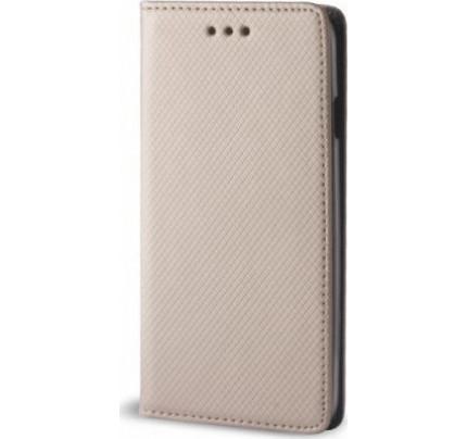 Θήκη OEM Smart Magnet για Samsung Galaxy J6 J600 χρυσού χρώματος (stand ,θήκη για κάρτα )