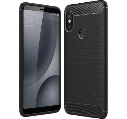 Θήκη OEM Brushed Carbon Flexible Cover TPU για Xiaomi Redmi S2 μαύρου χρώματος