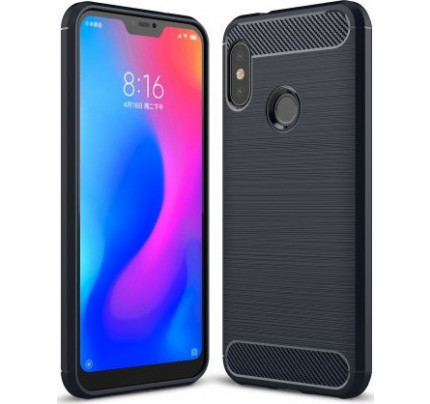 Θήκη OEM Brushed Carbon Flexible Cover TPU για Xiaomi Mi A2 / Mi 6X μπλε χρώματος