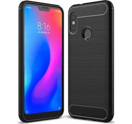 Θήκη OEM Brushed Carbon Flexible Cover TPU για Xiaomi Mi A2 LITE μαύρου χρώματος