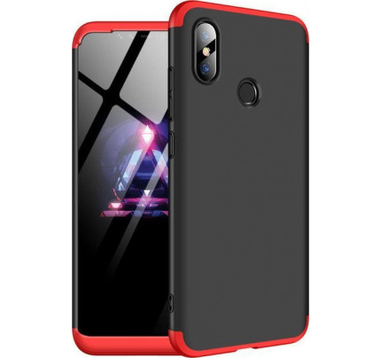 Θήκη OEM 360 Protection front and back full body για Xiaomi Mi8 black red