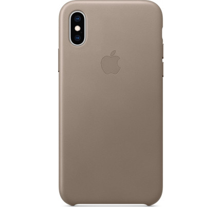 Apple iPhone XS / X Original Leather Case Taupe MRWL2ZM
