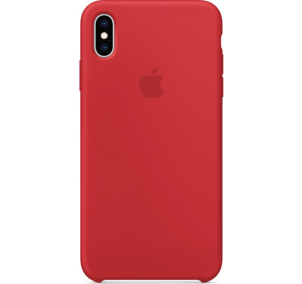 Apple MRWH2ZM Original Silicone Case ( PRODUCT)  iPhone XS MAX Red