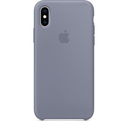 Apple Original MTFC2ZM Silicone Case iPhone XS / iPhone X Lavender Gray