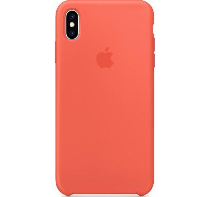 Apple Original MTFA2ZM Silicone Case iPhone XS / iPhone X Nectarine