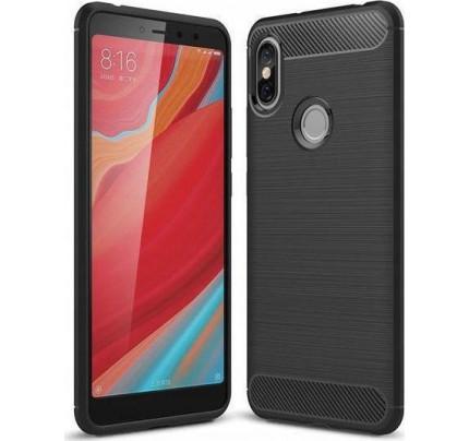 Θήκη OEM Brushed Carbon Flexible Cover TPU για Xiaomi Redmi Note 6 Pro μαύρου χρώματος
