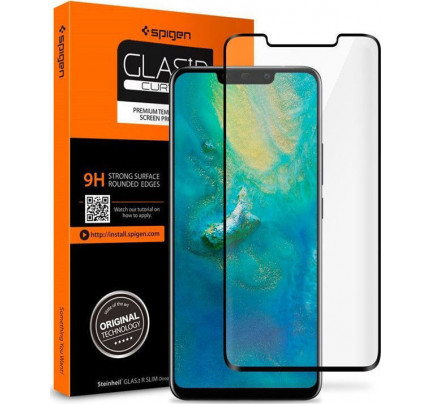 Spigen Glas.tR Case Friendly Full Cover Tempered Glass Black Huawei P30 Pro L37GL25745