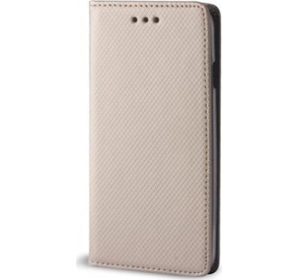 Θήκη OEM Smart Magnet για Samsung Galaxy J4 PLUS χρυσού χρώματος (stand ,θήκη για κάρτα )