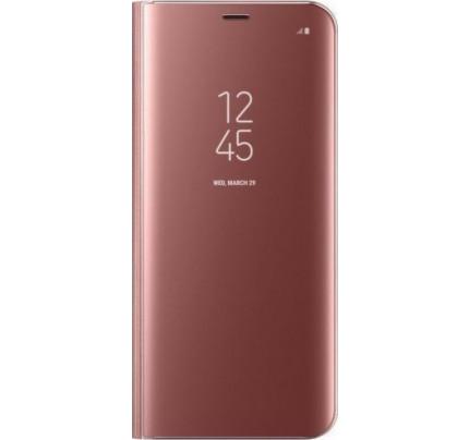Θήκη OEM Clear View Standing Cover για Xiaomi Redmi Go rose gold
