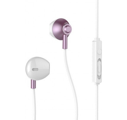 Remax RM-711 Earphones Earbuds Headphones with Remote Control and Microphone Rose Gold
