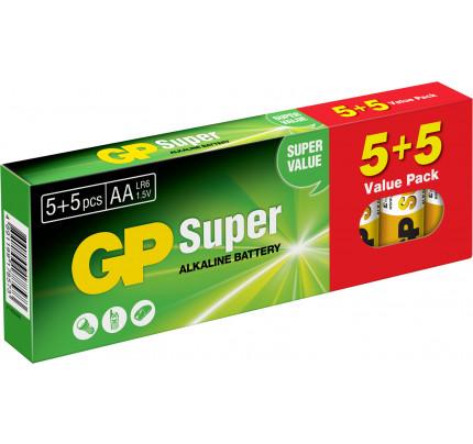 Αλκαλικές Μπαταρίες GP Ultra AA 1.5V (5ΤΕΜΑΧΙΑ+ 5 ΔΩΡΟ) GPA15-K10