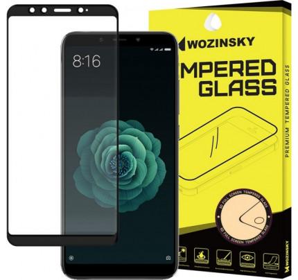 Wozinsky Tempered Glass Full Glue Super Tough Full Coveraged with Frame Case Friendly for Xiaomi Mi A2 / Mi 6X black