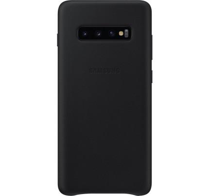 Samsung Original EF-VG975LBEGW Leather Cover Galaxy S10 Plus black