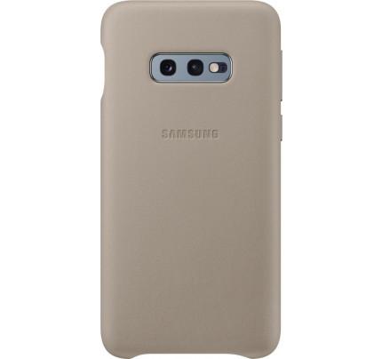 Samsung Original EF-VG975LJEGW Leather Cover Galaxy S10 Plus grey