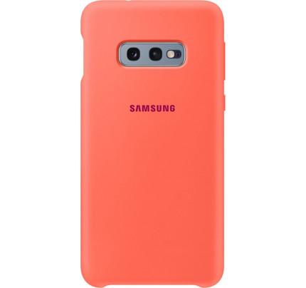 Samsung Original EF-PG970TPEGW Silicone Cover Galaxy S10e Berry Pink