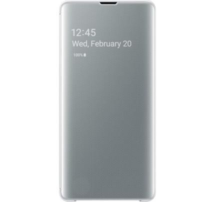 Samsung Original EF-ZG975CWEGW Clear View Cover Galaxy S10 Plus white
