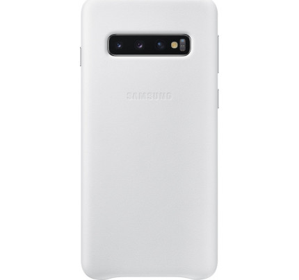 Samsung Original EF-VG973LWEGW Leather Cover Galaxy S10 white