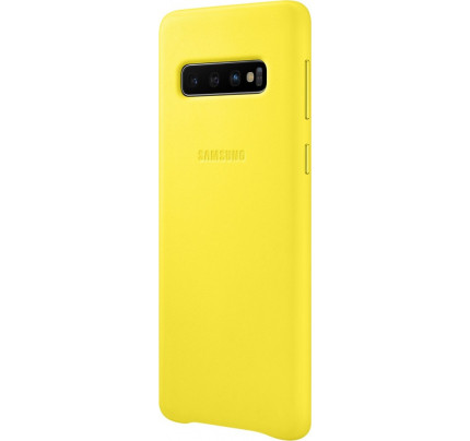 Samsung Original EF-VG973LYEGW Leather Cover Galaxy S10 yellow