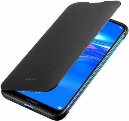 Huawei Original Flip Cover Huawei Y7 2019 μαύρου χρώματος  51992902