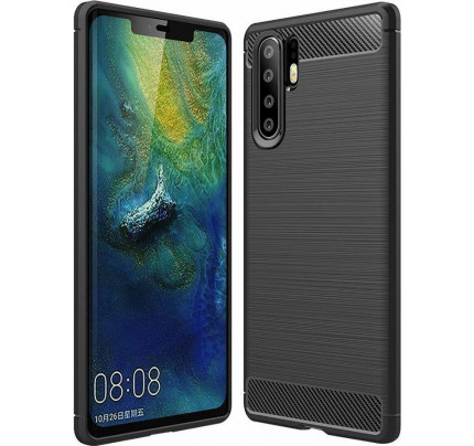Θήκη Carbon Flexible Cover TPU Case for Huawei P30 Pro black