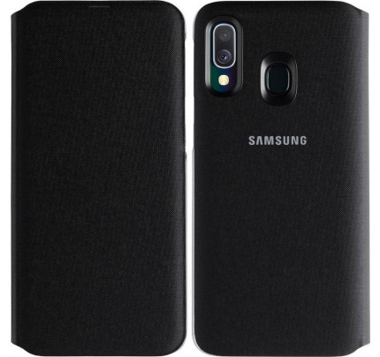 Samsung EF-WA405PBEGW Original Flip Wallet Cover Galaxy A40 black