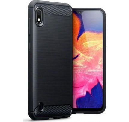 Θήκη OEM Brushed Carbon Flexible Cover TPU για Samsung Galaxy  A10 μαύρου χρώματος